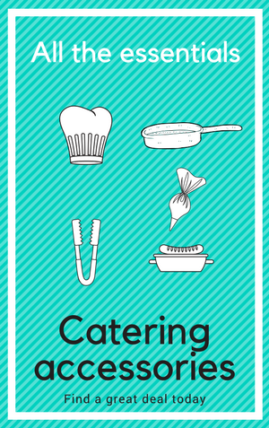 Our catering accessories menu