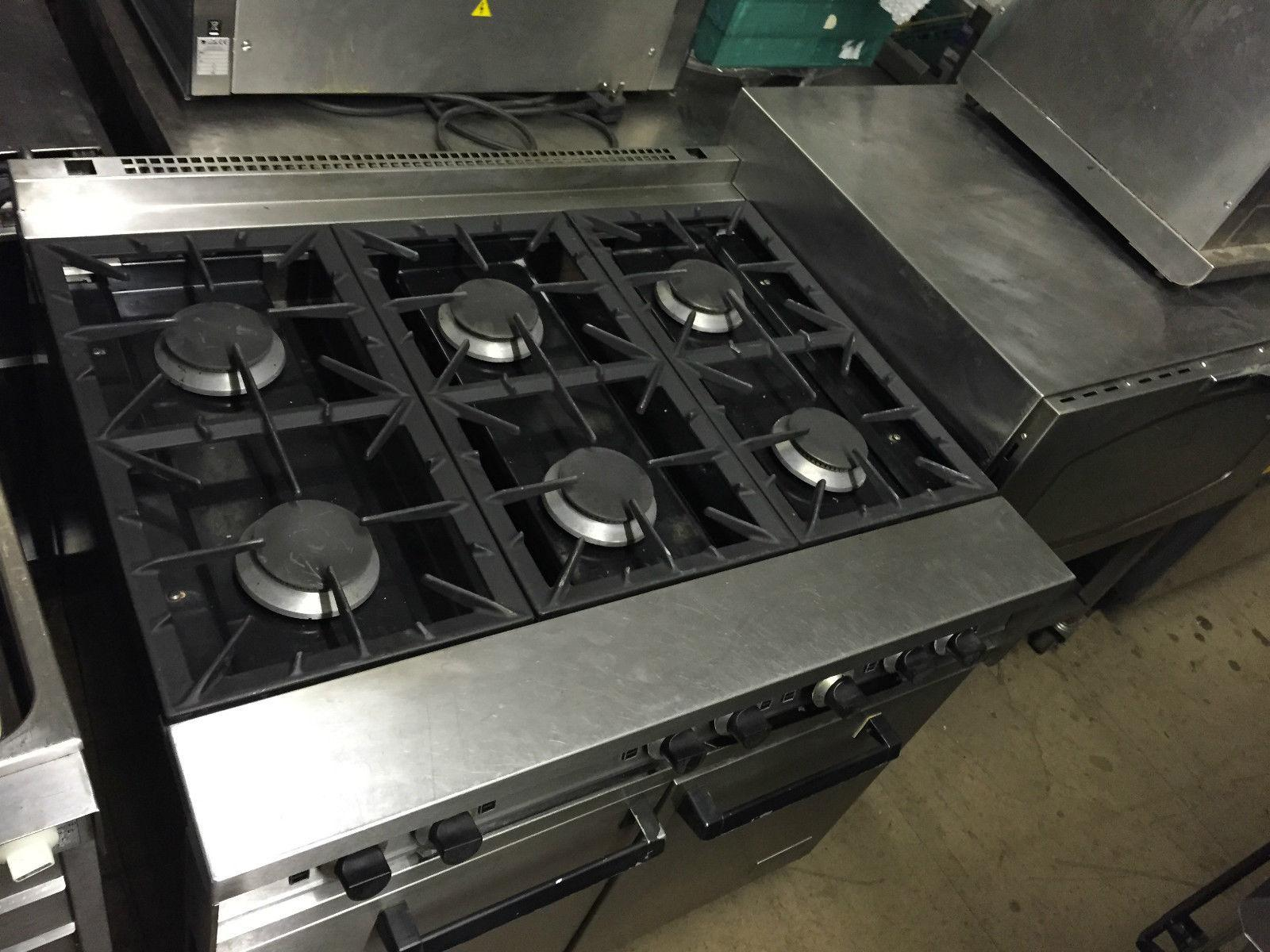 Falcon gas cooker 6 burner with oven serviced bar cafe for Perfect kitchen harrogate takeaway